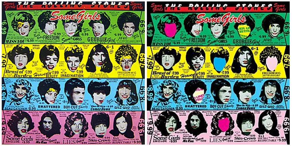 Peter Corriston. Rolling Stones, Some Girls