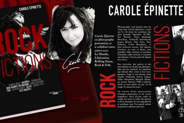 Carole Epinette Livre Rock Fictions